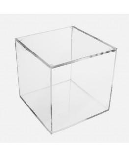 - Cubo - Teca 6 Lati Chiusi con Coperchio Appoggiato - Plexiglass Trasparente - Spessore 5 mm