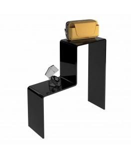 - Scaletta - Alzatina Monofacciale 2 Livelli - Plexiglass Nero - Dimensioni massime 50x40x40 cm. - Spessore 5 mm