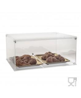 E-061 VB-X - PERSONALIZZABILE - Vetrina da banco in plexiglass trasparente bifacciale - spessore 5 mm