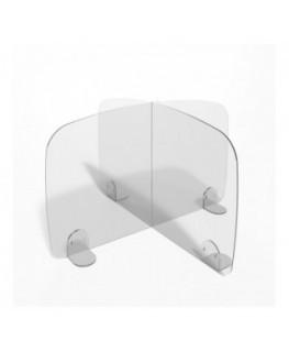 E-697 PAR - Parafiato o pannello separatore in plexiglass trasparente - 80xh60 cm