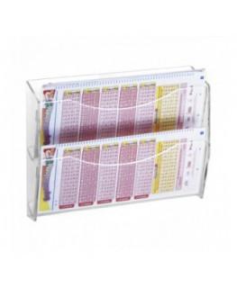 E-227 - Espositore schedine e gratta e vinci da parete in plexiglass trasparente