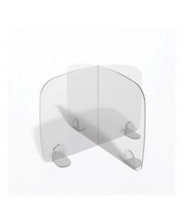 E-699 PAR - Parafiato o pannello separatore in plexiglass trasparente - 70xh60 cm
