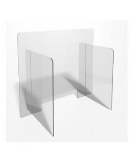 E-707 PAR - Parafiato o pannello separatore in plexiglass trasparente - 80xh70 cm