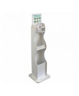 E-710 PSD - Dispenser / Distributore / Colonnina per igienizzante/gel disinfettante 3 in 1 da terra