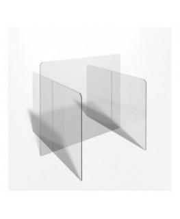 E-715 PAR - Parafiato o pannello separatore in plexiglass trasparente - 80xh70 cm