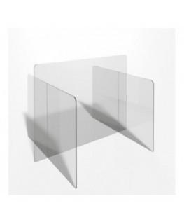 E-716 PAR - Parafiato o pannello separatore in plexiglass trasparente - 90xh70 cm