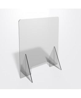 E-685 PAR - Parafiato o pannello separatore in plexiglass trasparente 5 mm - dimensioni: 60xh70 cm