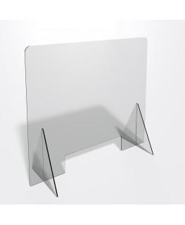 E-686 PAR - Parafiato o pannello separatore in plexiglass trasparente 5 mm - dimensioni: 80xh70 cm
