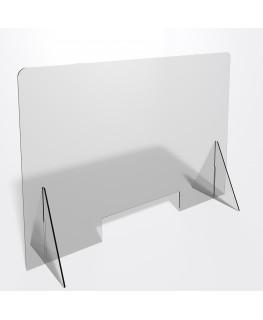 E-687 PAR - Parafiato o pannello separatore in plexiglass trasparente 5 mm - dimensioni: 100xh70 cm