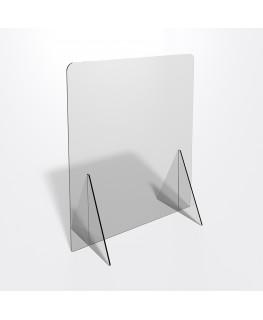 E-688 PAR - Parafiato o pannello separatore in plexiglass trasparente 5 mm - dimensioni: 60xh70 cm
