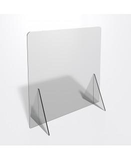 E-689 PAR - Parafiato o pannello separatore in plexiglass trasparente 5 mm - dimensioni: 70xh70 cm