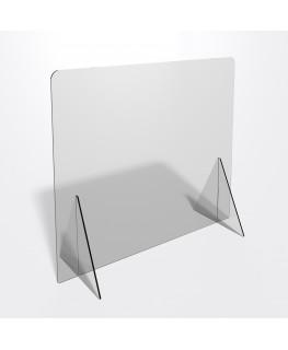 E-690 PAR - Parafiato o pannello separatore in plexiglass trasparente 8 mm - dimensioni: 100xh70 cm