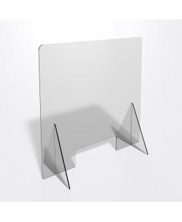 E-692 PAR - Parafiato o pannello separatore in plexiglass trasparente 5 mm - dimensioni: 70xh70 cm