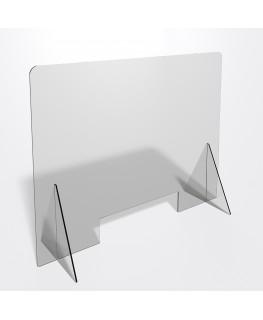 E-693 PAR - Parafiato o pannello separatore in plexiglass trasparente 5 mm - dimensioni: 90xh70 cm