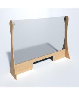 E-717 PAR - Parafiato o pannello separatore in legno e Pet trasparente - 102xh75 cm