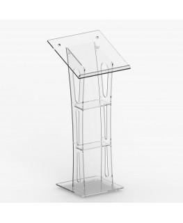 E-359 LEG - Leggio in plexiglass trasparente con piano inclinato