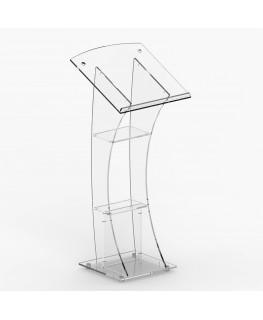 E-360 LEG - Leggio in plexiglass trasparente con piano inclinato