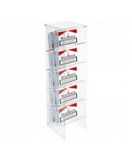 Clear acrylic wall mounted display holder for cut tobacco...