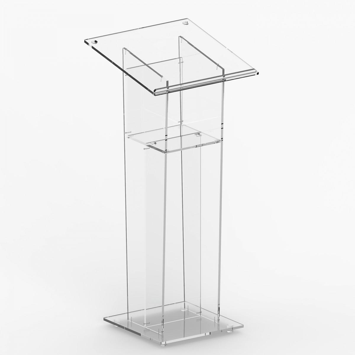 E-361 LEG - Leggio in plexiglass trasparente con piano inclinato