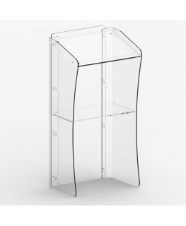 E-363 POD - Podio per conferenze in plexiglass trasparente con piano inclinato