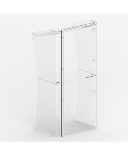 E-363 POD - Podio per conferenze in plexiglass trasparente con piano inclinato