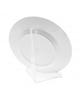 E-035 RP-A - Reggipiatto in plexiglass trasparente - Misure: 15x15x H20 cm.
