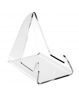 E-035 RP-C - Reggipiatto in plexiglass trasparente - Misure: 8x12x H11,5 cm.