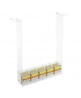 E-289 EGV-D - Espositore Gratta e Vinci da Soffitto in Plexiglass Trasparente a 5 contenitori SENZA SPORTELLO
