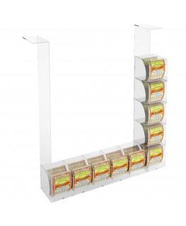 E-289 EGV-G - Espositore Gratta e Vinci da Soffitto in Plexiglass Trasparente 5 più 5 contenitori laterali SENZA SPORTELLO