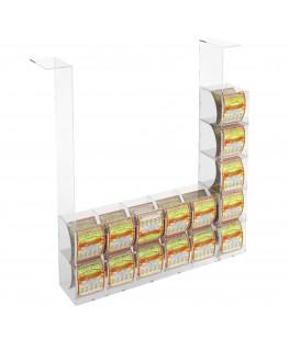 E-289 EGV-I - Espositore Gratta e Vinci da Soffitto in Plexiglass Trasparente 10 più 5 contenitori laterali SENZA SPORTELLO