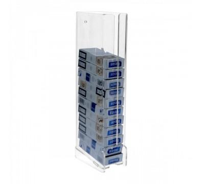 Wanddisplay für Zigarettenpackungen aus Plexiglass, transparent, für 20er-Packungen