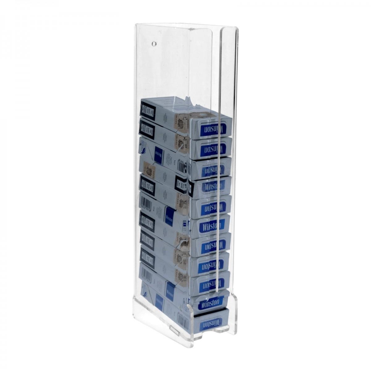 E-232 - Espositore porta sigarette da parete in plexiglass trasparente per sigarette da 20