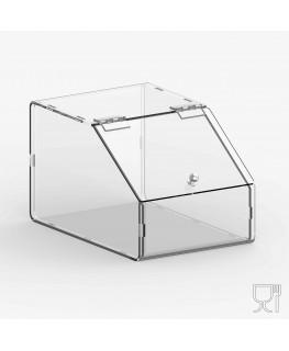 E-719 PLE - Porta legumi in plexiglass trasparente a 1 scomparto con sportello