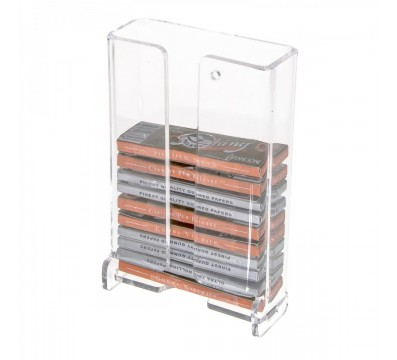 Clear Acrylic Wall Mounted Display Holder For Cut Tobacco Packets