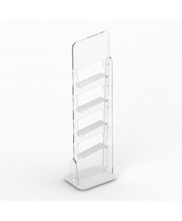 E-729 PSC - Piantana espositiva universale in plexiglass trasparente a 4 ripiani