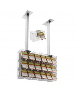 E-392 EGV-A - Espositore gratta e vinci da soffitto in plexiglass trasparente a 18 contenitori munito di sportellino frontale...