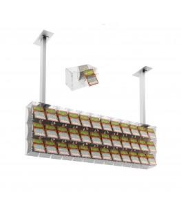 E-392 EGV-G - Espositore gratta e vinci da soffitto in plexiglass trasparente a 36 contenitori munito di sportellino frontale...