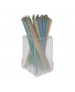 E-014 PGR - Porta grissini da tavolo in plexiglass trasparente