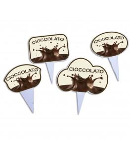 E-026 SG - Segna gusti per gelati in plexiglass trasparente - Misure: 10 x H10 cm