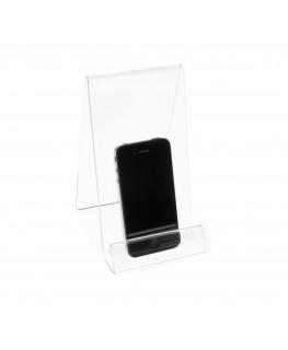 E-123 PCE-C - Portacellulare in plexiglass trasparente con segnaprezzo - Misura: 10x12xH18 cm