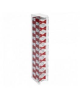 E-236 - Espositore porta sigarette da parete in plexiglass trasparente per sigarette da 20
