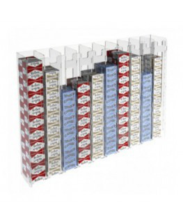 Clear acrylic wall mounted cigarette display (20...