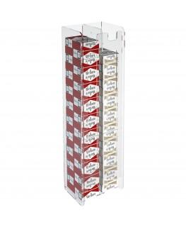 E-236 ESS-B - Espositore porta sigarette da parete in plexiglass trasparente per sigarette da 20 con 2 colonne