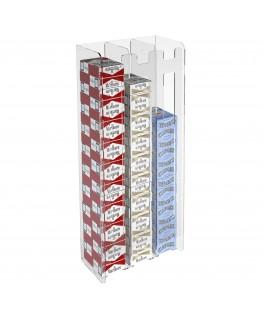 E-236 ESS-C - Espositore porta sigarette da parete in plexiglass trasparente per sigarette da 20 con 3 colonne