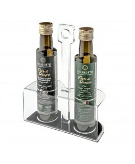 E-203 PBO - Porta olio in plexiglass trasparente - Misure: 19 x 8 x H28,5 cm
