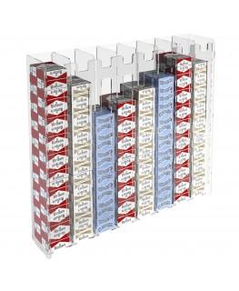 E-236 ESS-H - Espositore porta sigarette da parete in plexiglass trasparente per sigarette da 20 con 8 colonne