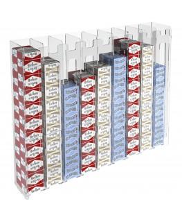 E-236 ESS-I - Espositore porta sigarette da parete in plexiglass trasparente per sigarette da 20 con 9 colonne