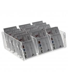 E-285 EPS-C - Espositore schede telefoniche da banco in plexiglass trasparente 20 x 14 x H6.50