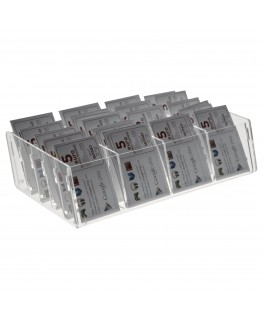 E-285 EPS-D - Espositore schede telefoniche da banco in plexiglass trasparente 27 x 14 x H6.50