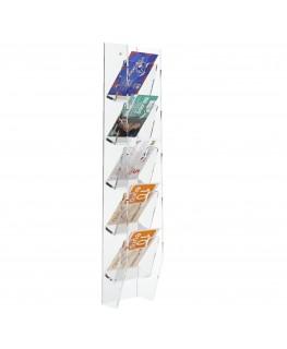 E-286 EPS-B - Espositore schede telefoniche da parete in plexiglass trasparente con 5 tasche